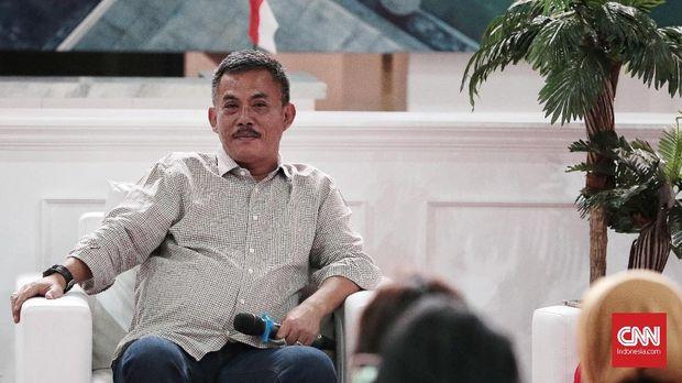 Ketua DPRD DKI Prasetio Edi Marsudi, di gedung Filateli, Jakarta, 16 Agustus.