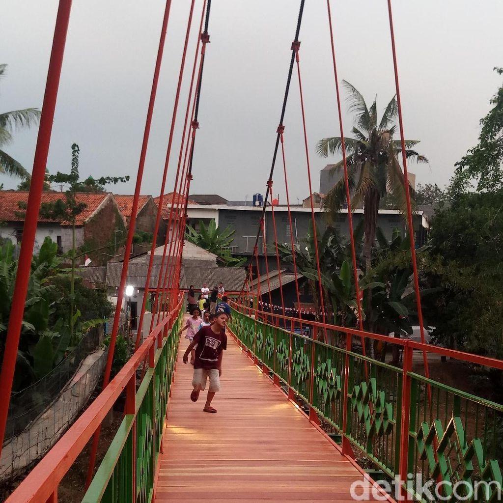 Pengganti Jembatan Indiana Jones di Jagakarsa Sudah Jadi
