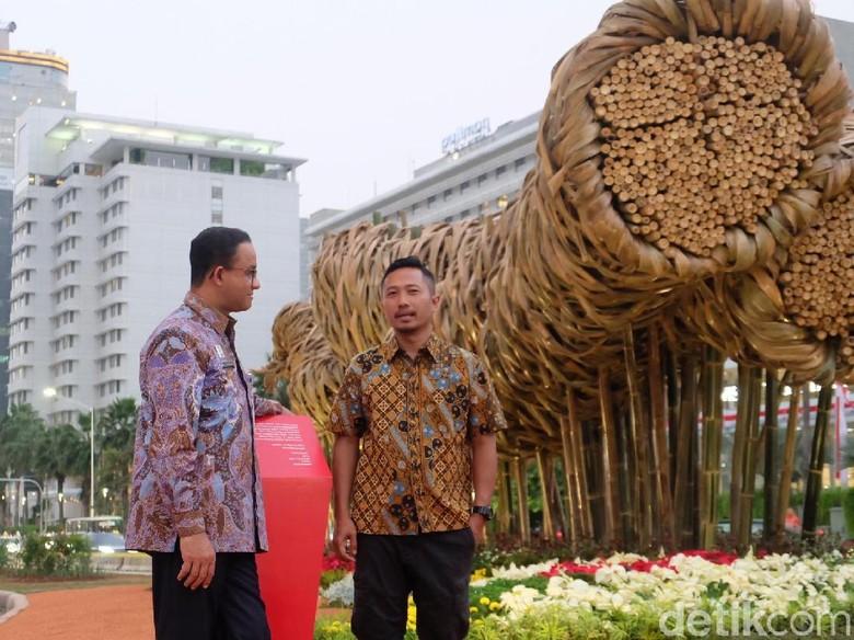 Foto: Instasi Bambu di Bundaran HI (Tia Agnes)
