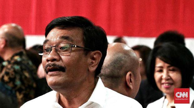 Eks Gubernur DKI Djarot Saiful Hidayat mengeluhkan lebar surat suara.