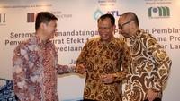 PT Indonesia Infrastructure Finance (IIF) bersama PT Bank Negara Indonesia (Persero), Tbk. (BNI) dipercaya memberikan pembiayaan sindikasi sebesar Rp 550 miliar untuk pengembangan proyek Sistem Penyediaan Air Minum (SPAM) di Kota Bandar Lampung, bertindak sebagai Joint Mandated Lead Arrangers dan Bookrunners (JMLAB), dengan nilai proyek sebesar Rp 750 miliar. Foto: dok. BNI