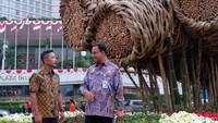 Karya seni Bambu Getah Getih disebut menghabiskan dana Rp 550 juta.