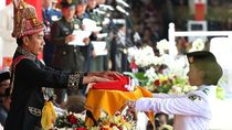 Foto: Jokowi Pimpin Upacara HUT ke-73 RI di Istana