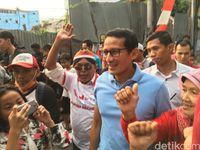 Kehadiran Sandiaga di Jalan Jaksa disambut warga