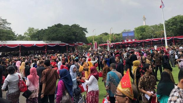 Suasana di Istana Merdeka, Jakarta