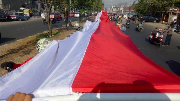 Penggemar Vespa di Makassar rayakan Kemerdekaan RI ke-73