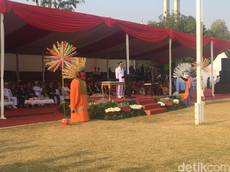 Anies Baswedan Pimpin Upacara HUT RI ke-73 di Lapangan Banteng