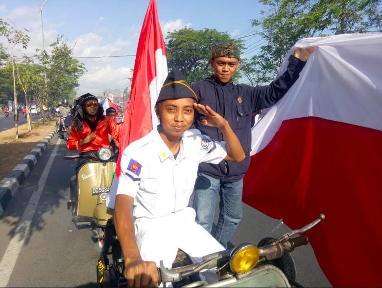 Penggemar Vespa di Makassar Foto: Ibnu Munsir/detikOto