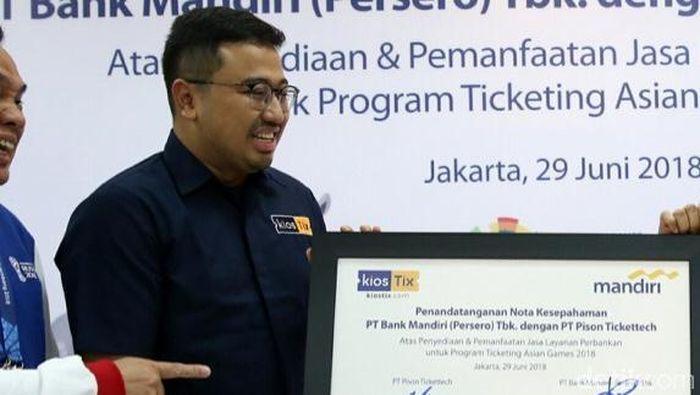 CEO KiosTix.com, Ade Sulistioputra (Agung Pambudhy/detikSport)