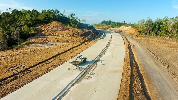 Tol Balikpapan-Samarinda telah mencapai progres 65,2%. Foto: Istimewa/Jasa Marga