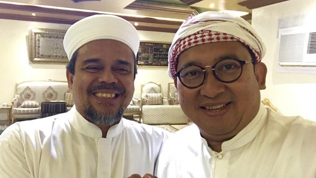 Habib Rizieq-Fadli Zon Bahas Haji Juga Pilpres 2019