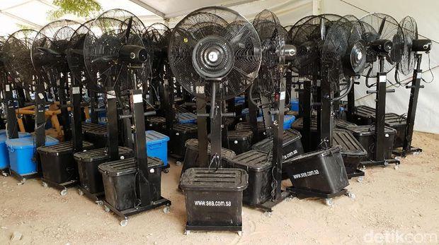 Bukan Lagi AC, Tenda di Arafah Kini Andalkan Mist Fan