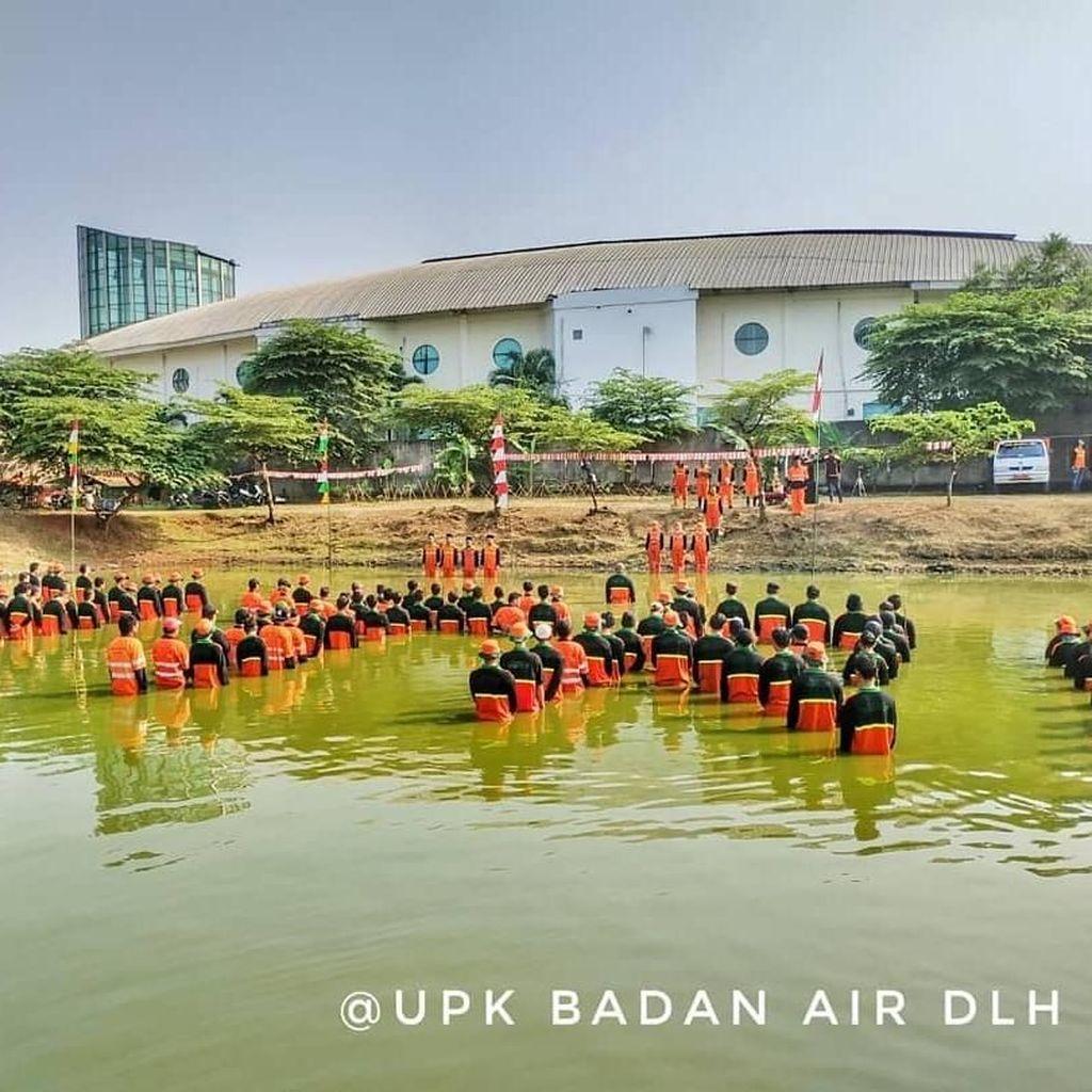 UPK Badan Air Upacara HUT ke-73 RI di Waduk hingga Kali