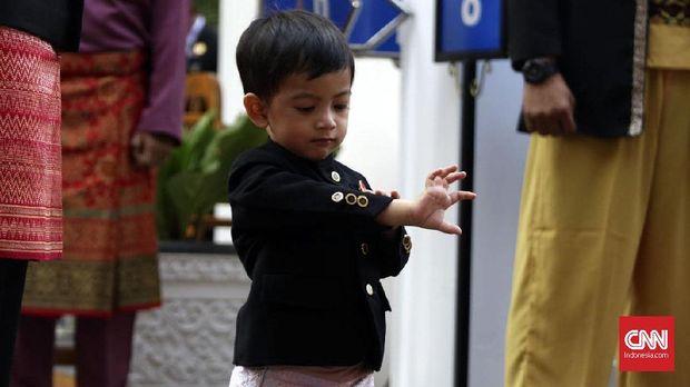 Cucu pertama Jokowi, Jan Ethes Srinarendra.