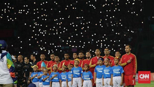 Timnas Indonesia U-23 lolos 16 besar sebagai juara Grup A Asian Games 2018.