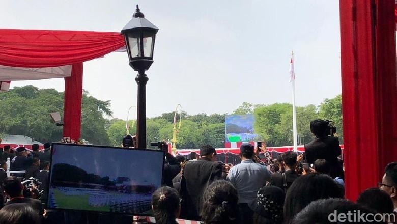 Tim Nusa Paskibraka Sukses Kibarkan Sang Saka Merah Putih di