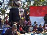 Warok Raksasa Ikut Upacara Kemerdekaan di Ponorogo