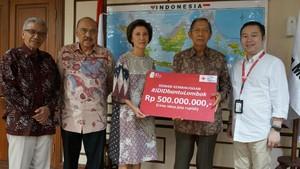 JD Beri Donasi untuk Korban Gempa Lombok