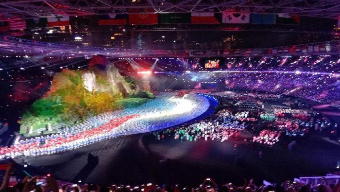 Kemeriahan Pembukaan Asian Games 2018 (Foto: Dikhy Sasra/detikcom)
