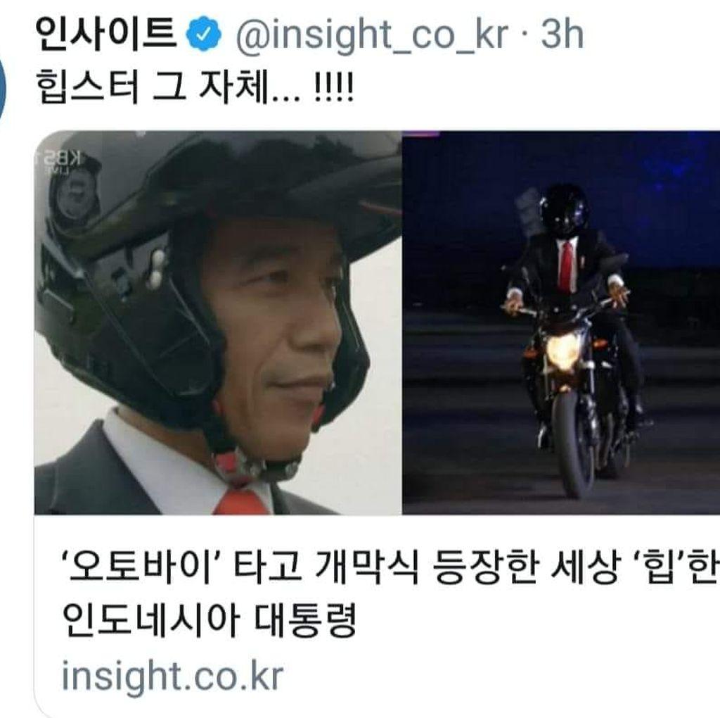Enaknya Pakai Helm Modular Seperti Jokowi