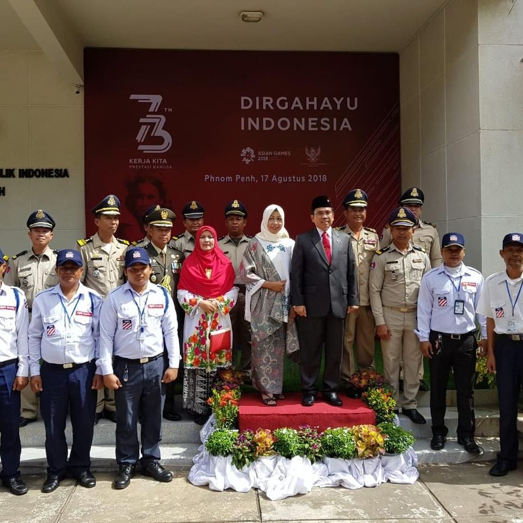 Polisi Kamboja dan Tentara 911 Ikut Peringati HUT ke-73 RI