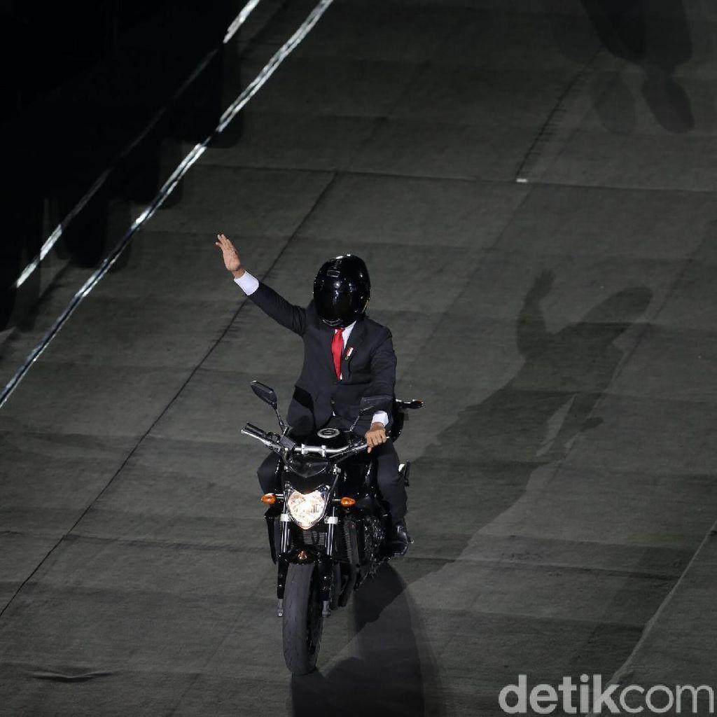 Spektakulernya Opening Asian Games: Jokowi Naik Moge, 2 Korea Bersatu