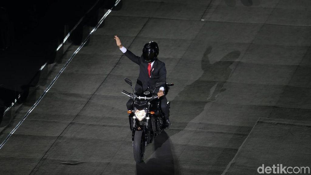 Momen Spektakuler Asian Games: Jokowi Naik Moge, 2 Korea Bersatu