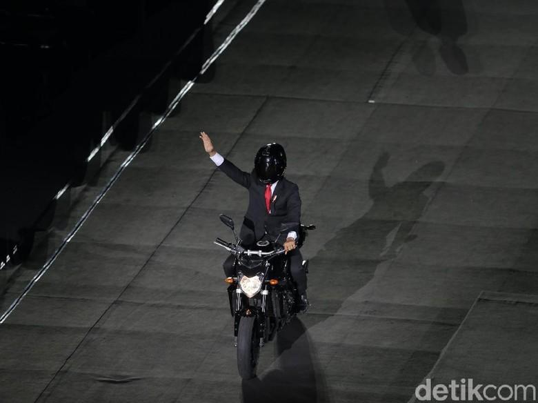 Aksi Jokowi Naik Moge di Asian Games, Kaesang: Saya Tadi Stuntman