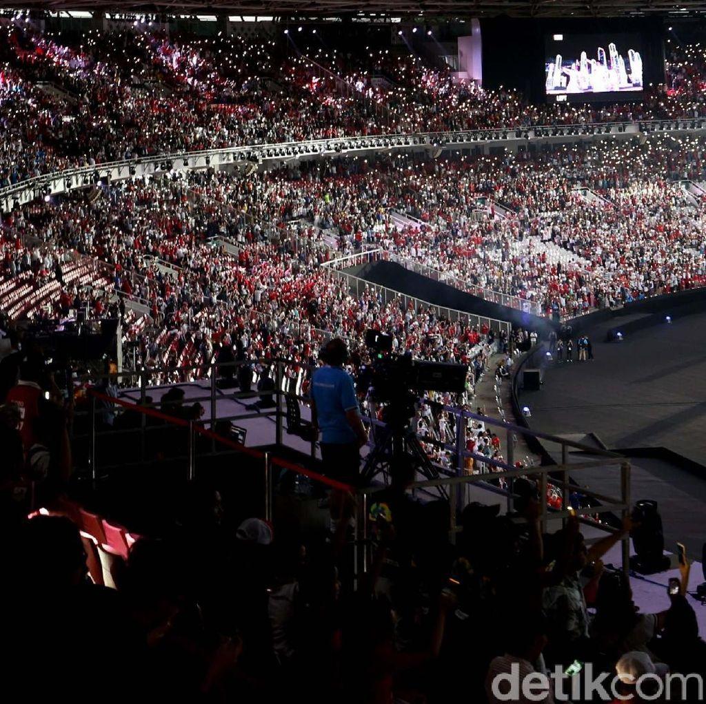 Penonton di GBK Jadi Saksi Sejarah Asian Games 2018