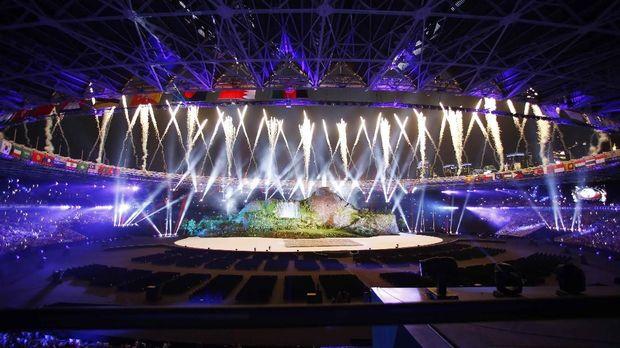 SUGBK terlihat mewah dalam upacara pembukaan Asian Games 2018.