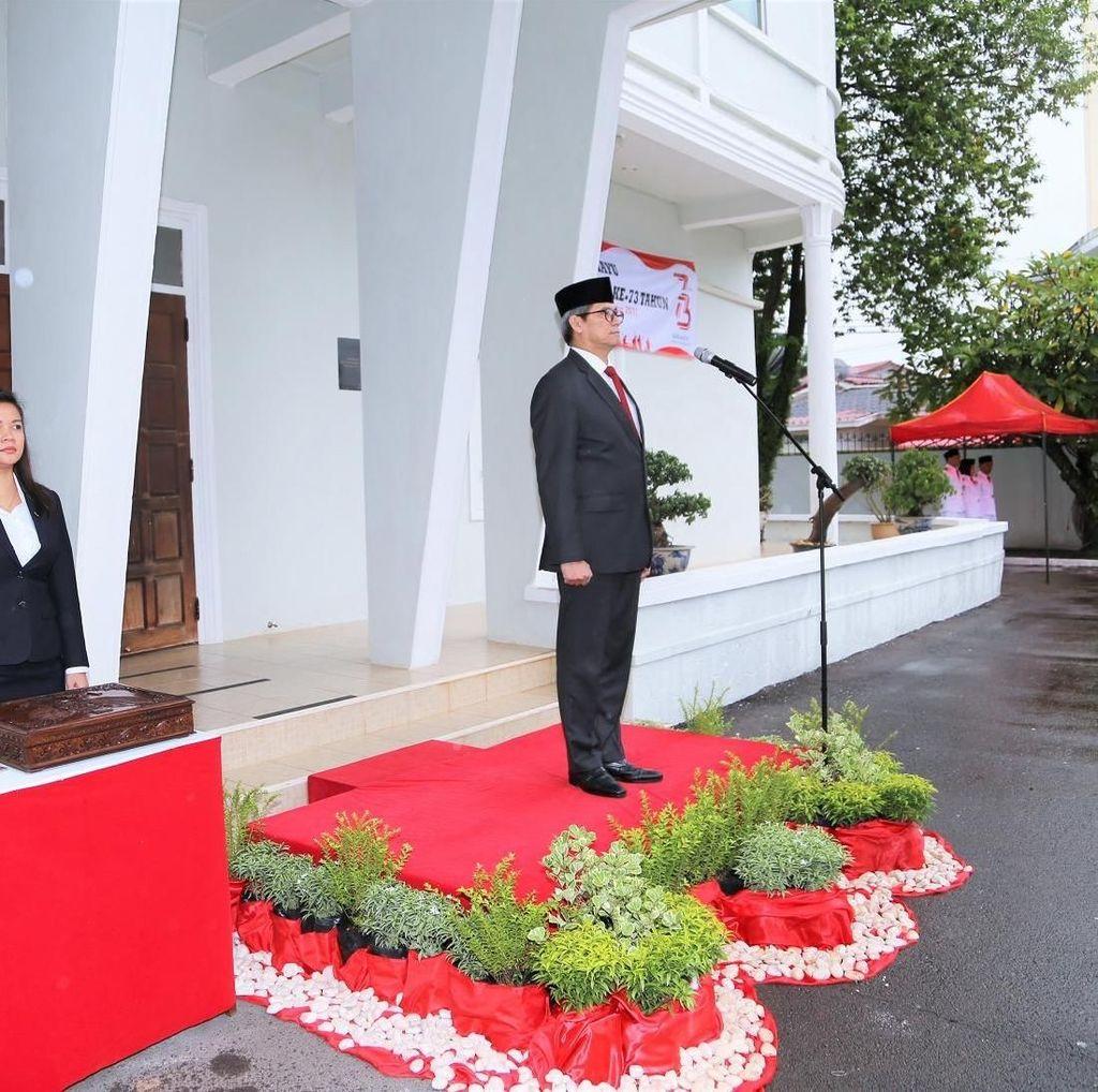 KBRI Vientiane Laos Gelar Upacara HUT ke-73 RI