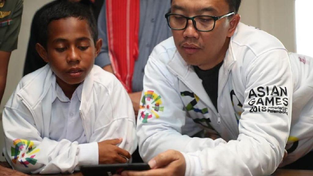 Aksi Panjat Tiang Bawa Joni ke Pembukaan Asian Games 2018 di GBK