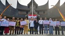 Promosi Wisata, PT Bukit Asam Upacara HUT RI di Istana Pagaruyung