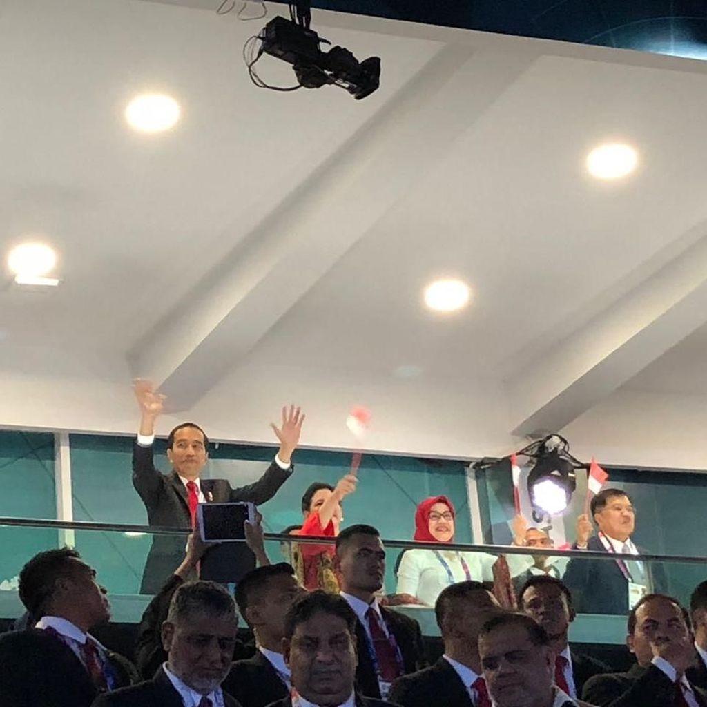 Teriakan Jokowi di Pembukaan Asian Games 2018