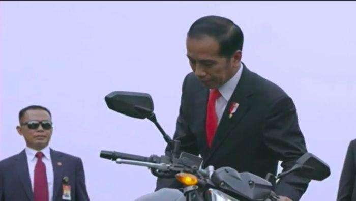 Jokowi naik moge pada pembukaan Asian Games 2018 (Istimewa)