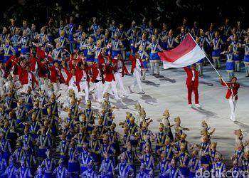 Momen Defile Kontingen Indonesia di Asian Games 2018