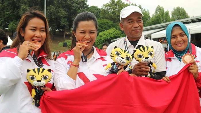Pada tahun 2017 di Sea Games Malaysia, Dellie Threesyadinda berhasil menyumbangkan medali perunggu bagi Indonesia. (instagram/delliedinda)