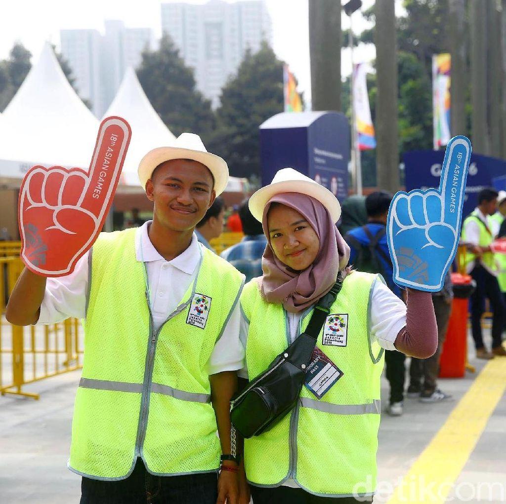 Jelang Pembukaan Asian Games 2018, Volunteer Siap bantu Penonton ke GBK