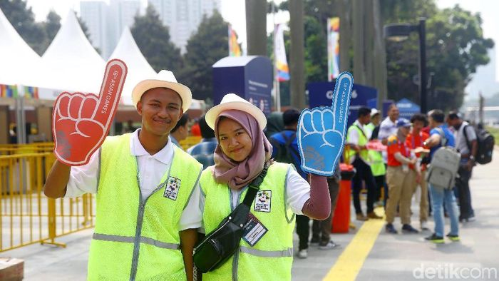 Ilustrasi volunter saat Asian Games 2018 (Grandyos Zafna)