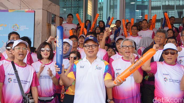Bank Mandiri turut berpartisipasi dalam Asian Games 2018 sebagai official prestige partner. Berbagai bentuk dukungan pun diberikan Bank Mandiri dengan menyediakan beragam layanan perbankan.