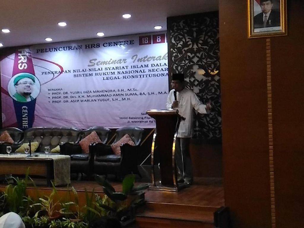 Habib Rizieq Beri Pesan dari Mekah dalam Launching HRS Center