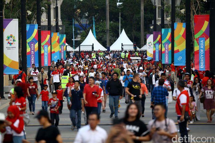 Penampakan susana terkini jelang seremoni pembukaan Asian Games 2018.