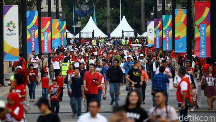 Suasana di SUGBK jelang pembukaan Asian Games 2018. Foto: Grandyos Zafna