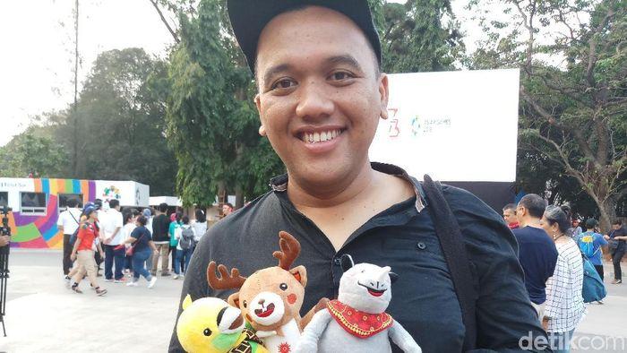 Yogi berangkat pukul 5 pagi dari Yogyakarta cuma demi nonton pembukaan Asian Games 2018  (Foto: Yanu Arifin/detikSport)
