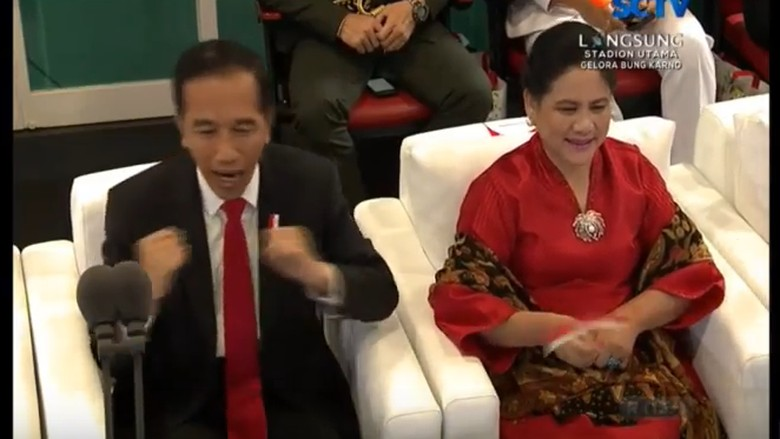 Via Vallen Nyanyi di Opening Asian Games, Jokowi Goyang Dayung