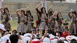 JKT 48 Ramaikan Pawai Obor Asian Games 2018 di Tugu Monas