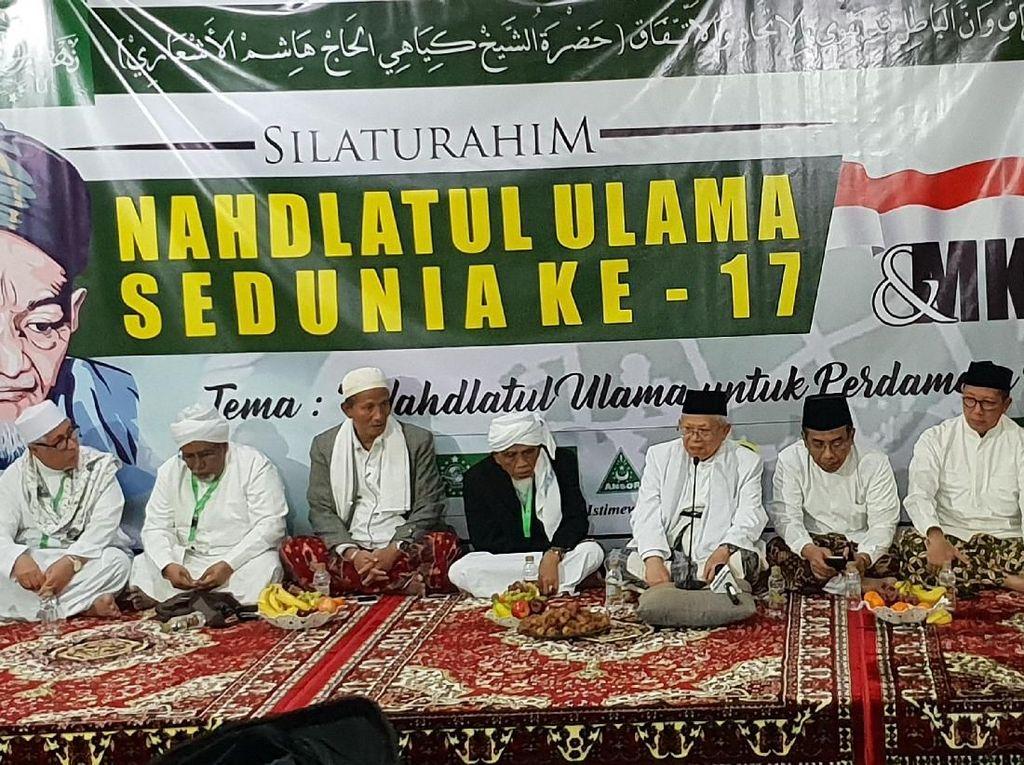 Dari Mekah, Maruf Amin Gelorakan NU All-Out Dukung Jokowi di Pilpres