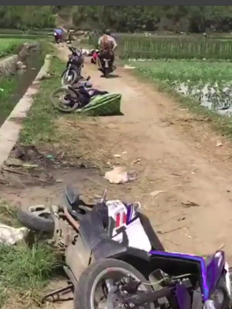 Diguncang Gempa, Warga Sembalun Lombok Lari Tinggalkan Motornya