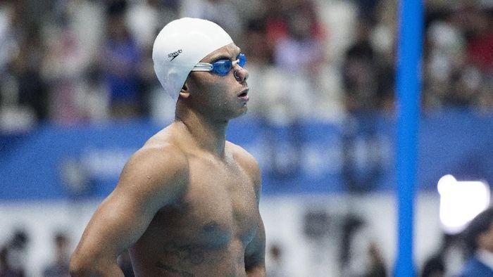 I Gede Siman Sudartawan gagal di final renang 100 meter gaya punggung Asian Games 2018 (ANTARA FOTO/INASGOC/Rosa Panggabean)