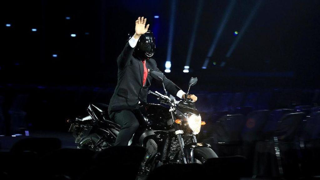 Netizen Korea Terpesona Aksi Jokowi di Pembukaan Asian Games 2018